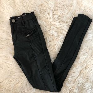 Coated skinny cotton on jeans